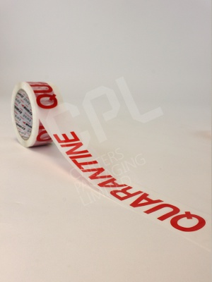 Rolls of Quarantine Printed Tape