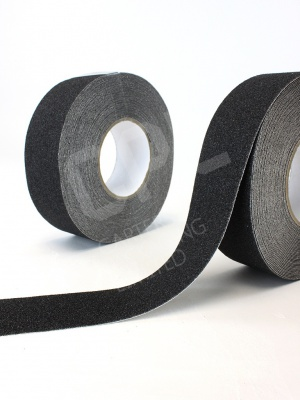 Rolls of black grip tape for safety