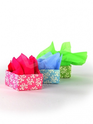 Beautiful Colourful Tissue Paper with Wedding Favour Boxes