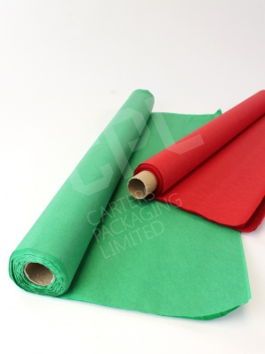 Rolls of Green or Red Tissue Paper