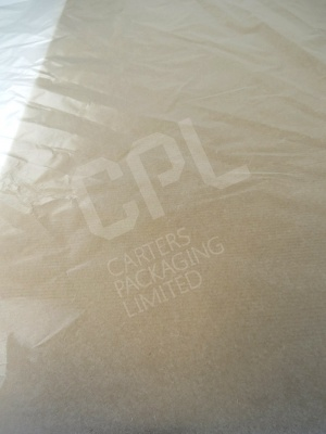 Clear Tissue Paper with Waxed Coating