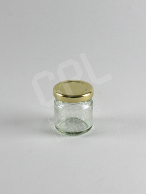 45ml Jam Jar with Gold Lid