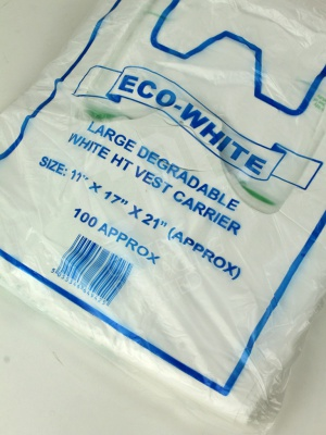 Large White 100% Degradable Vest Carriers