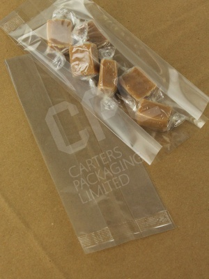 Open Top Gusseted Crimp-Sealed Display Bags