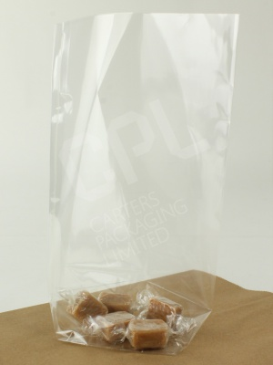 Clear Block Bottom Bags