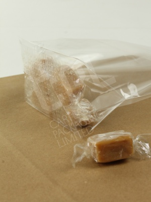 Clear Block Bottom Sweetie Bags with No Card