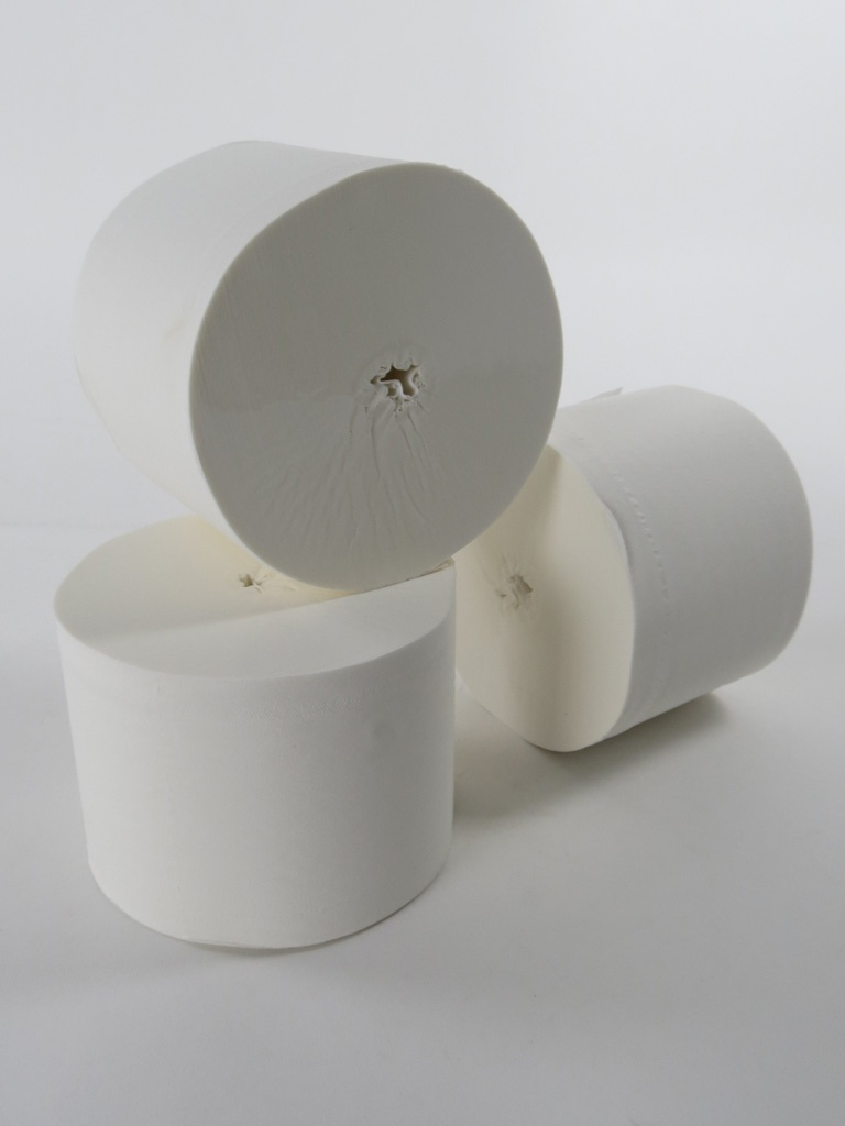 core less white toilet rolls