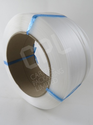 White Polyprop Strapping for Machine Use