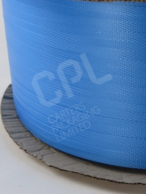 Blue Polyprop Strapping on Cardboard Core for Machine Use