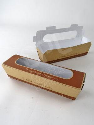 Brown Kraft Baguette Box with Tuck Top