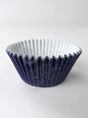 Navy Blue Foil Cupcake Case
