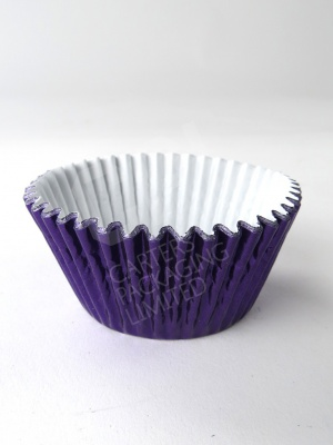 Purple Foil Cupcake Case