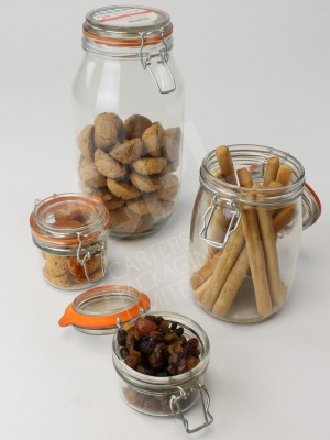Glass 'Kilner Style' Jars ranging from 125ml to 2100ml