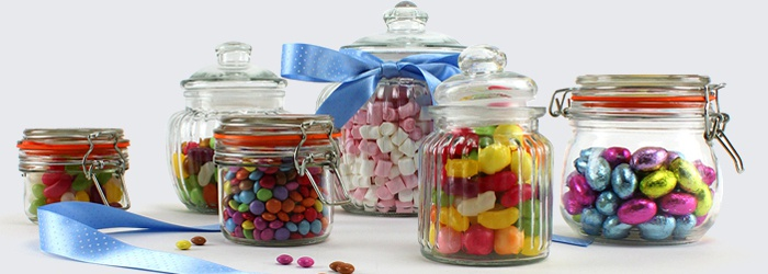 Great variety of Glass Jars