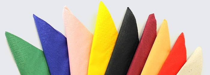 Colourful and Vibrant Disposable Paper Napkins