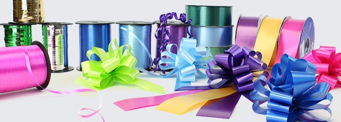 Rolls of colourful Ribbon in all different styles