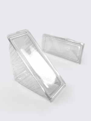 Standard Hinged Clear Plastic Sandwich Wedges