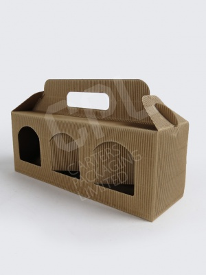3 x Jar Cardboard Ripple Carton