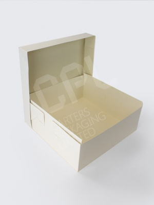 Large White No Staple Cake Box