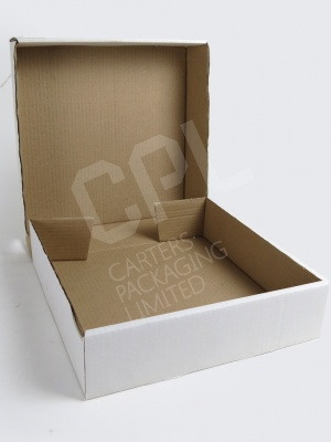 Large, Shallow Corrugated Cardboard Cake Box: C/0215