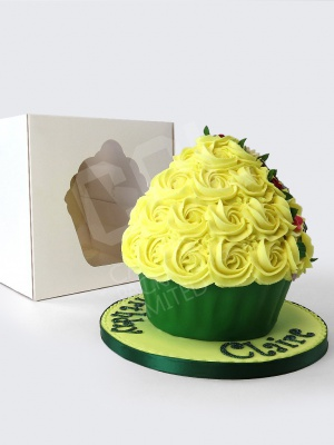 XL Cupcake Window Box with Cupcake Shaped Window