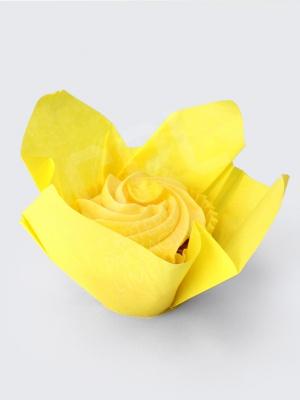 Yellow Tulip Case with Cupcake Inside