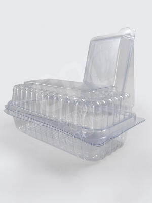 Single Cake Hinged Containers