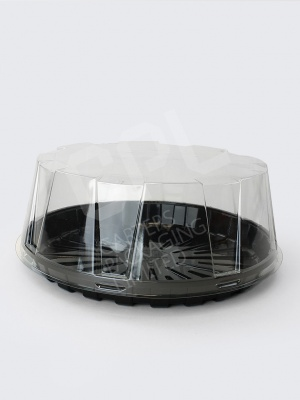 Black Gateau Base with Clear Dome Lid