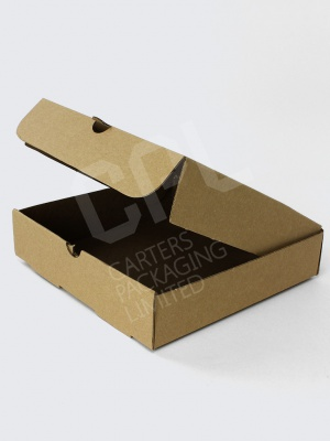 Plain Traditional Kraft Pizza Boxes