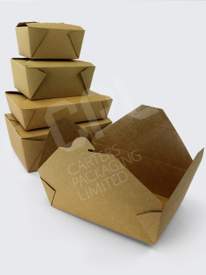 Brown Kraft Biodegradable Boxes with Wax Lining
