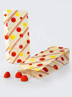Candy Bags - Yellow & Red Balls and Stripes