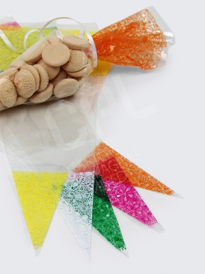 Coloured Patterned Candy Cone Bags