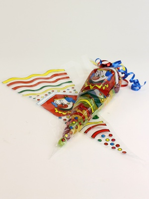 Clown Print Candy Cone Bags