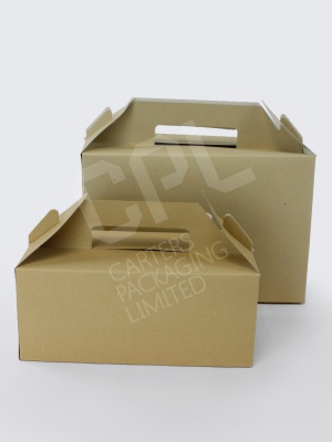 Brown Kraft Carry Packs / Meal Boxes