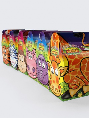 Animal World (Zoo Themed) Printed Childrens Meal Boxes