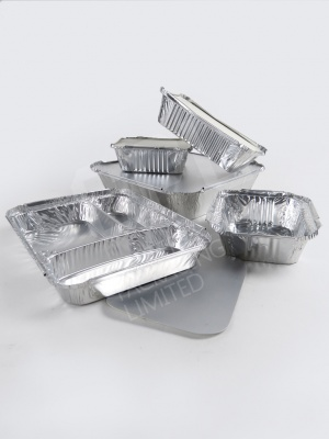 Silver Rectangular Foils - Popular Sized Trays and Boxes for Takeaway Meals