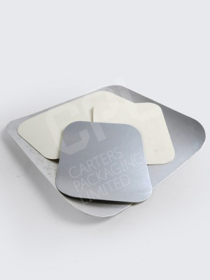 White Poly Lids and Foil Lids for Takeaway Trays