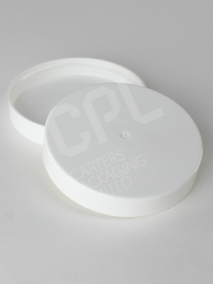 White Plastic 70mm Screw Lid