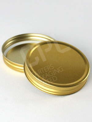 Gold Metal 70mm Screw Lid