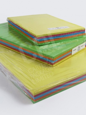 Coloured Packs of Brite Card (100)