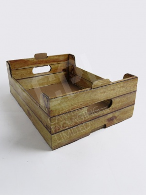 Wood Effect Produce Box