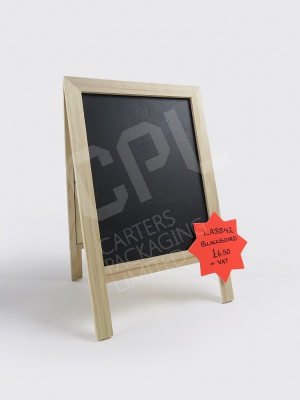 Small A5 Light Wood A-Frame Chalkboard