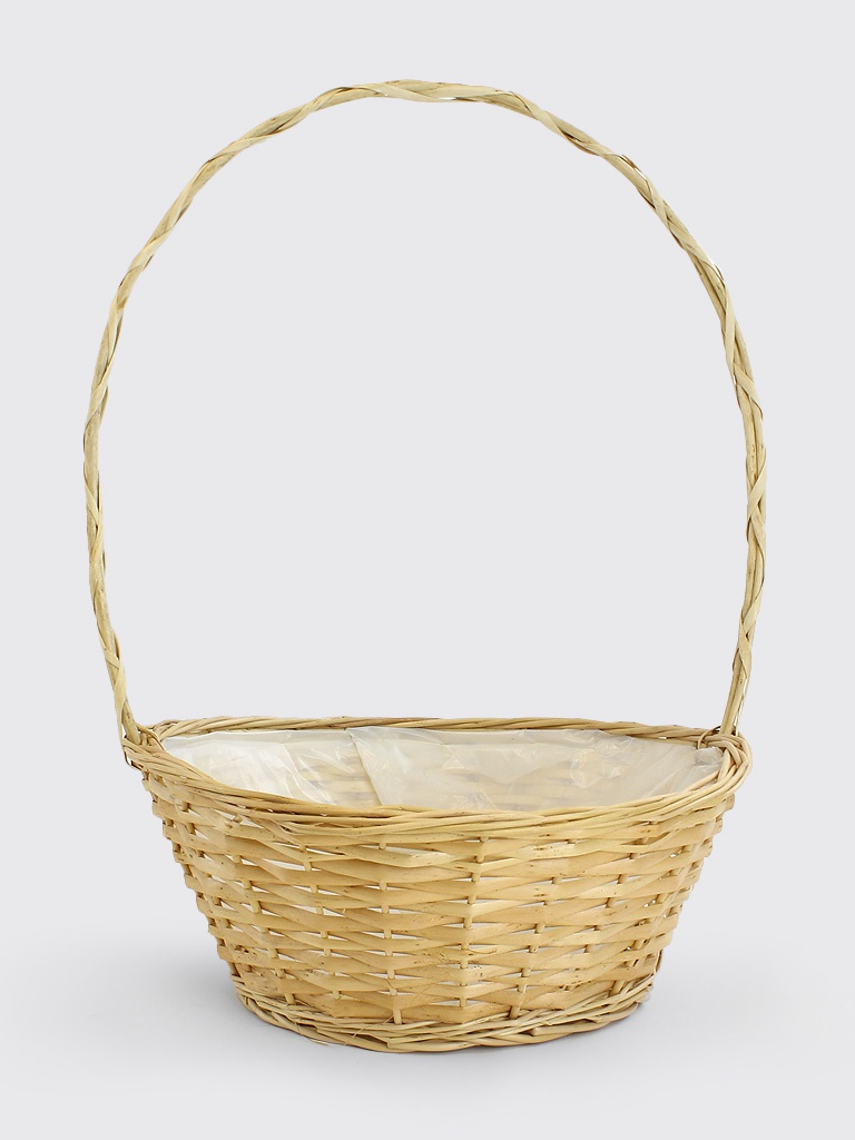 Large Round Wicker Baskets With Handle : Round wicker baskets with handle
