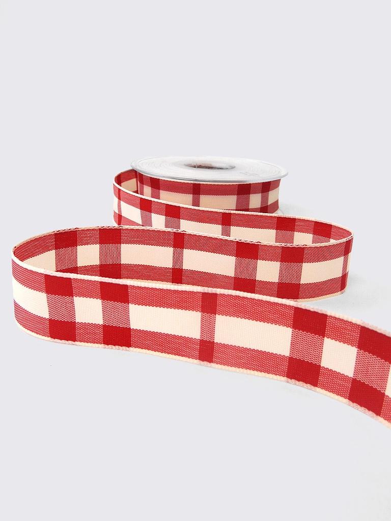 Ribbons Rustic Red Tartan Ribbon
