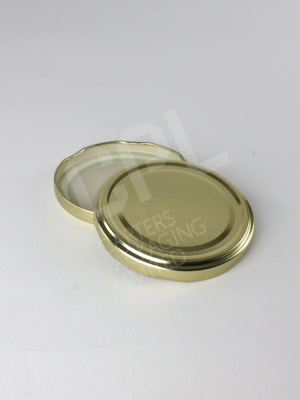 82mm Large Gold Metal Jar Lid
