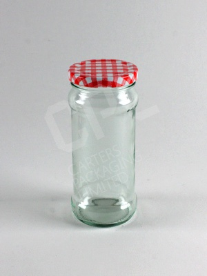 Red Gingham Lid upon 248ml Chutney Jar