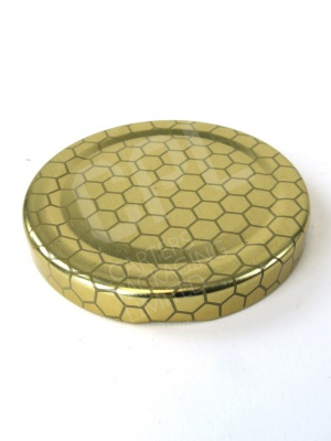 63mm Gold LId with Honeycomb Print