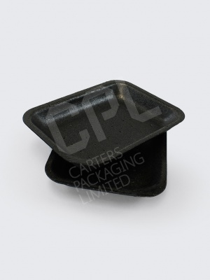 Black Polystyrene Tray with Absorption Holes (D2)