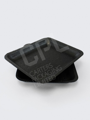 Medium Black Sized Food Tray with Absorption Holes (D14)