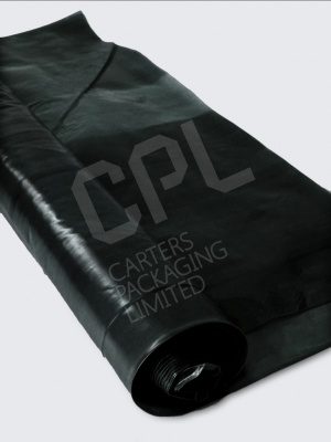 Black Temporary Polythene Sheeting